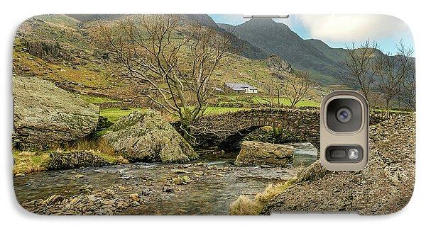 Galaxy Case featuring the photograph Nant Peris Bridge by Adrian Evans