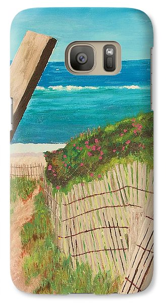 Galaxy Case featuring the painting Nantucket Dream by Cynthia Morgan