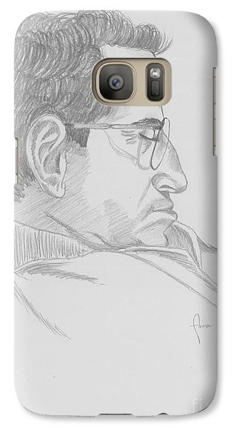 Galaxy Case featuring the drawing Nap by Annemeet Hasidi- van der Leij