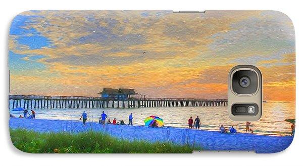 Galaxy Case featuring the digital art Naples Beach by Sharon Batdorf