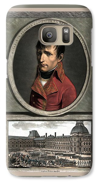 Galaxy Case featuring the painting Napoleon Bonaparte And Troop Review by War Is Hell Store