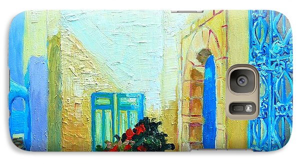 Galaxy Case featuring the painting Narrow Street In Hammamet by Ana Maria Edulescu