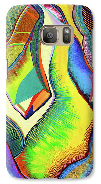 Galaxy Case featuring the painting Nascent Bud by Polly Castor