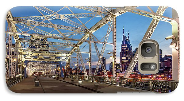 Galaxy Case featuring the photograph Nashville Bridge by Brian Jannsen