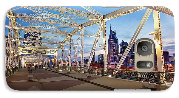 Galaxy Case featuring the photograph Nashville Bridge II by Brian Jannsen