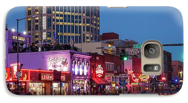 Galaxy Case featuring the photograph Nashville - Broadway Street by Brian Jannsen
