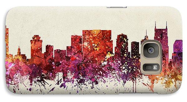 Nashville Cityscape 09 Galaxy S7 Case by Aged Pixel