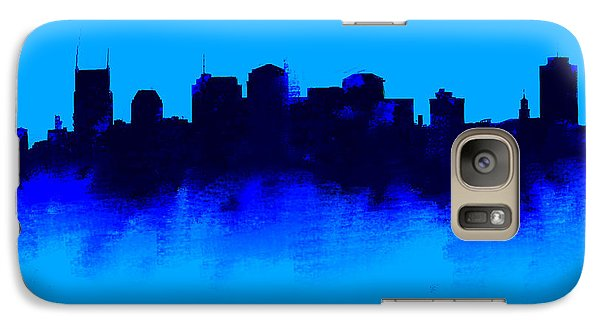 Nashville  Skyline Blue  Galaxy S7 Case by Enki Art