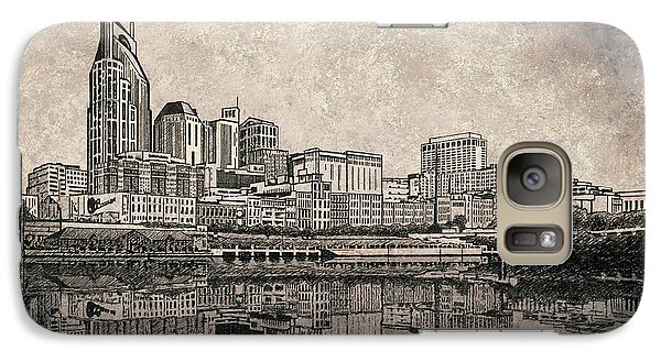 Galaxy Case featuring the painting Nashville Skyline Mixed Media Painting  by Janet King