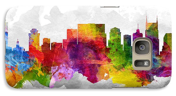 Nashville Tennessee Cityscape 13 Galaxy Case by Aged Pixel