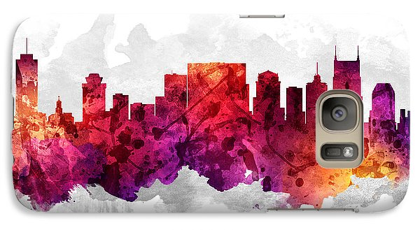 Nashville Tennessee Cityscape 14 Galaxy S7 Case by Aged Pixel