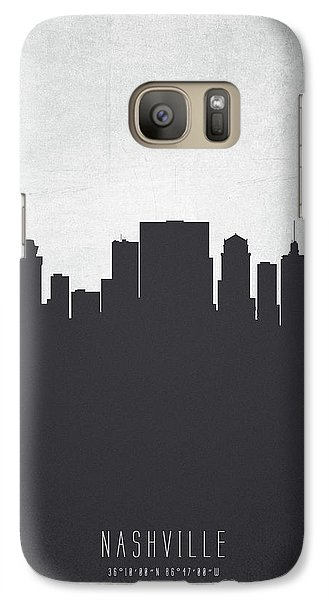Nashville Tennessee Cityscape 19 Galaxy Case by Aged Pixel