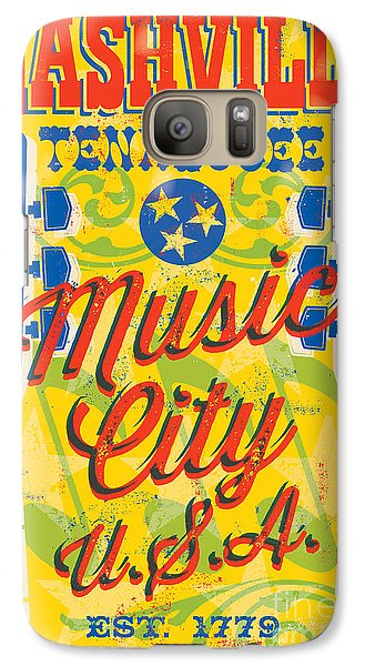 Nashville Tennessee Poster Galaxy S7 Case