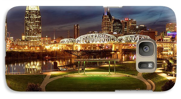 Galaxy Case featuring the photograph Nashville Twilight Skyline by Brian Jannsen