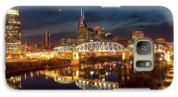 Galaxy Case featuring the photograph Nashville Twilight Skyline II by Brian Jannsen
