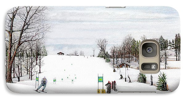 Galaxy Case featuring the painting Nastar At Seven Springs Mountain Resort by Albert Puskaric