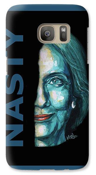 Nasty - Hillary Clinton Galaxy Case by Konni Jensen