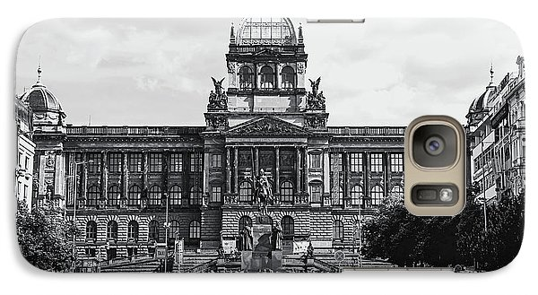 Galaxy Case featuring the photograph National Museum At Wenceslas Square. Prague by Jenny Rainbow