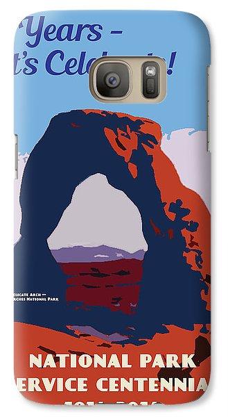 Galaxy Case featuring the digital art 100 Years, National Park Service Centennial by Chuck Mountain