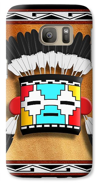Galaxy Case featuring the digital art Native American Indian Kachina Mask by John Wills