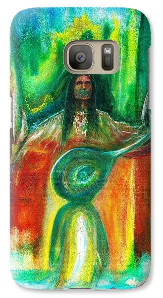 Galaxy Case featuring the painting Native Awakenings by Kicking Bear  Productions