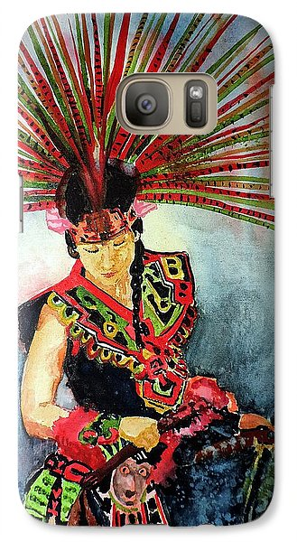 Galaxy Case featuring the painting Native Dancer by Tom Riggs