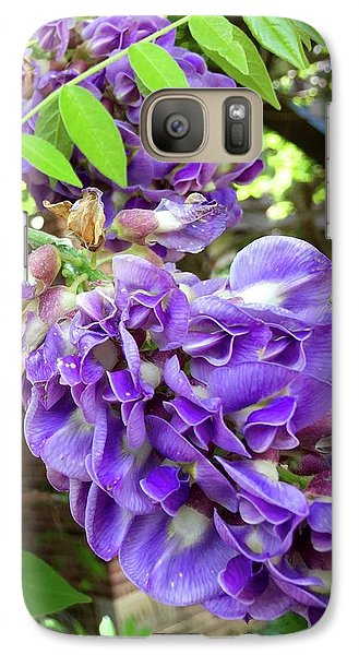 Galaxy Case featuring the photograph Native Wisteria Vine II by Angela Annas