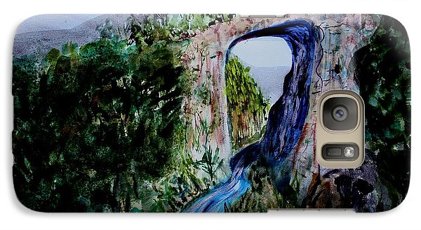 Galaxy Case featuring the painting Natural Bridge In Virginia by Donna Walsh