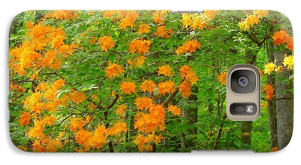 Galaxy Case featuring the photograph Natural Wild Azaleas  by Rand Herron