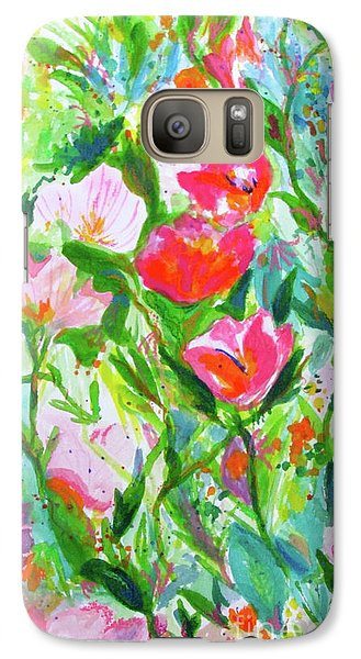 Galaxy Case featuring the painting Nature Dance by Beth Saffer