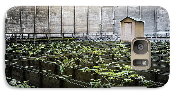 Galaxy Case featuring the photograph Nature Takes Back - Inside Cooling Tower by Dirk Ercken