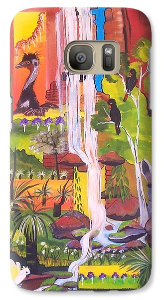Galaxy Case featuring the painting Nature Windows by Lyn Olsen