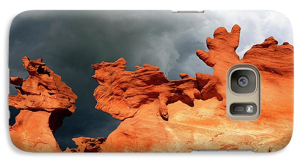 Galaxy Case featuring the photograph Nature's Artistry Nevada by Bob Christopher