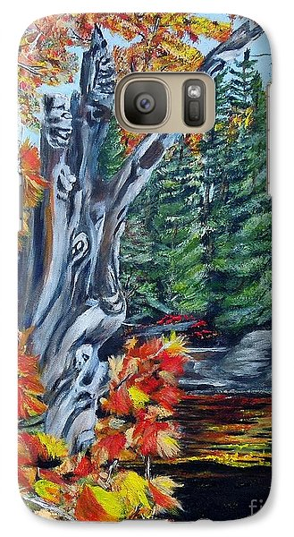 Galaxy Case featuring the painting Natures Faces by Marilyn  McNish