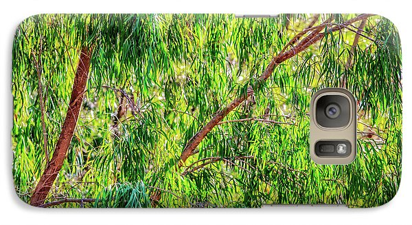 Galaxy Case featuring the photograph Natures Greens, Yanchep National Park by Dave Catley