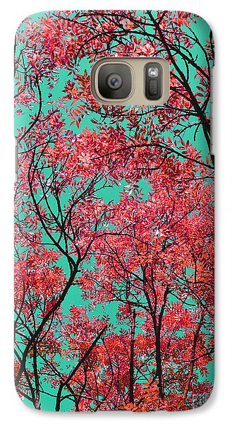 Galaxy Case featuring the photograph Natures Magic - Fire Red by Rebecca Harman