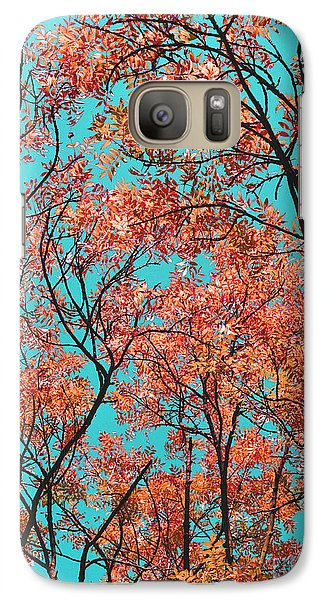 Galaxy Case featuring the photograph Natures Magic - Orange by Rebecca Harman