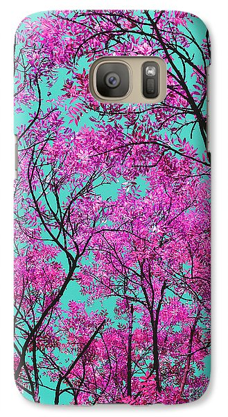 Galaxy Case featuring the photograph Natures Magic - Pink And Blue by Rebecca Harman