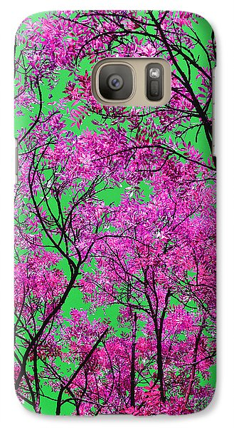 Galaxy Case featuring the photograph Natures Magic - Pink And Green by Rebecca Harman