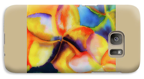 Galaxy Case featuring the painting Nature's Pinwheels by Stephen Anderson