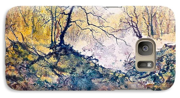 Galaxy Case featuring the painting Nature's Textures by Carolyn Rosenberger