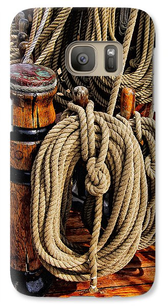 Nautical Knots 17 Oil Galaxy S7 Case