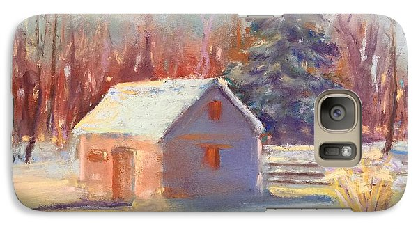 Galaxy Case featuring the pastel Nauvoo Winter Scene by Rebecca Matthews
