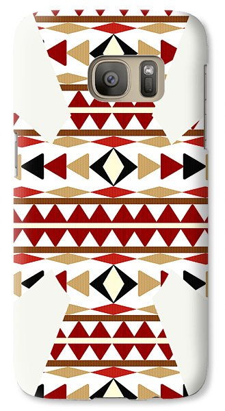 Navajo White Pattern Art Galaxy Case by Christina Rollo