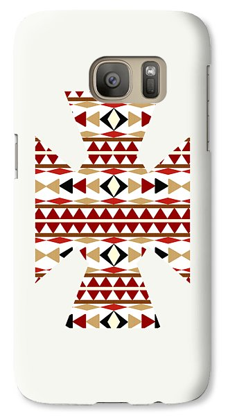 Navajo White Pattern Art Galaxy S7 Case by Christina Rollo