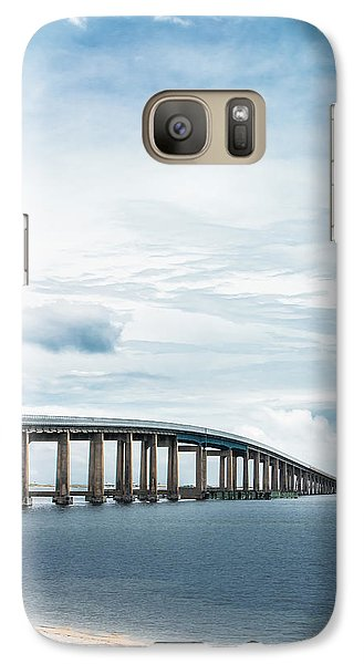 Galaxy Case featuring the photograph Navarre Bridge In Florida On The Sound Side by Shelby Young