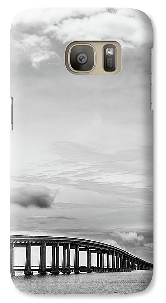 Galaxy Case featuring the photograph Navarre Bridge Monochrome by Shelby Young