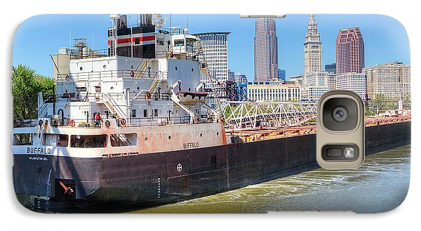 Galaxy Case featuring the photograph Navigating The Cuyahoga by Brent Durken