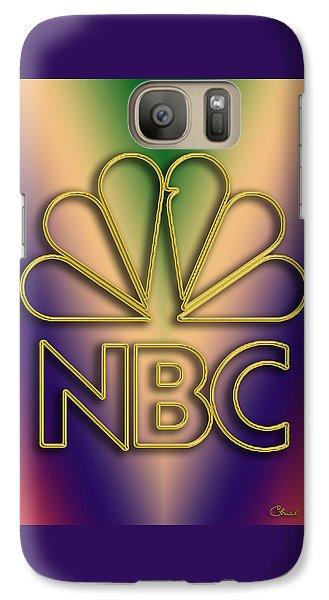 Galaxy Case featuring the digital art N B C Logo - Chuck Staley by Chuck Staley