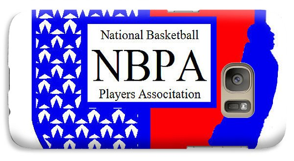 Galaxy Case featuring the digital art Nbpa Logo Redesign Sample by Tamir Barkan